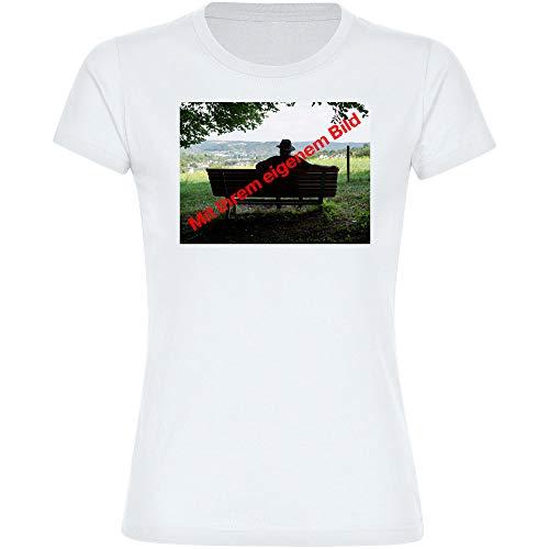 T-shirt dames maat S tot 2XL met uw eigen foto of foto - Upload onmiddellijk hier mogelijk - bedrukken maken persoonlijk persoonlijk persoonlijk