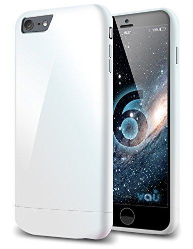 vau Snap Hülle Slider Glossy White - zweigeteiltes Hard-Hülle kompatibel zu Apple iPhone 6 (Hülle weiß, hart mit Innenfutter)