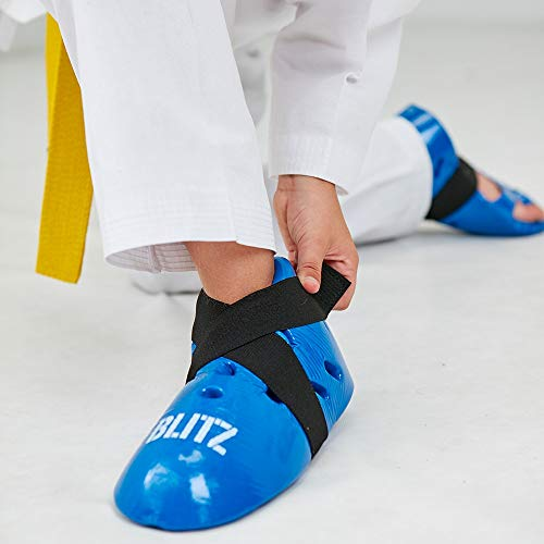 Blitz Unisex's Dipped Foam Foot Guards, Blue, X-Small