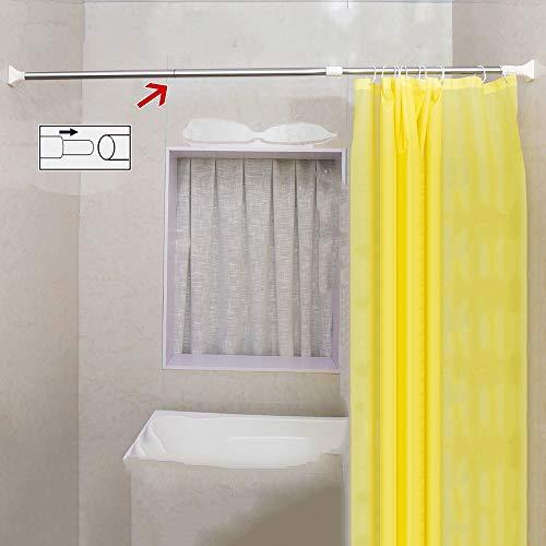 DCAH Badezimmer Duschvorhangstange, Edelstahl Teleskopstange Freies Punch Bad Vorhang Pole Balkon Kleidung Pole Gerade Pol (3 Farben erhältlich) Curtain Rod (größe : 248-350cm)