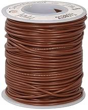 Hookup Wire 1C Brown 100' 24 AWG Stranded PVC UL1007/UL1569