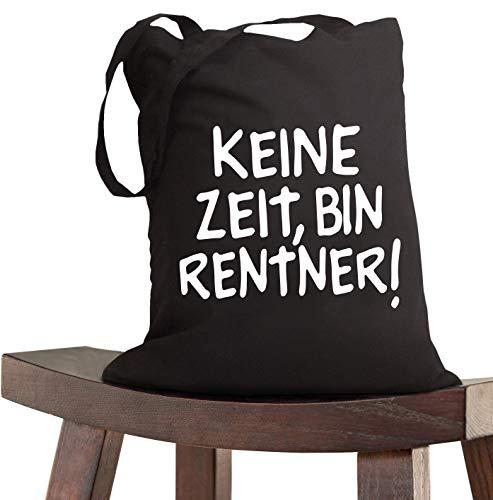 ELES VIDA Rentnertasche (Schwarz, 38 x 42cm) Abschiedsgeschenk zur Pensionierung als Dankeschön bei Verabschiedung für Kollegen zum Ruhestand bei Renteneintritt oder Abschiedsfeier Geburtstag