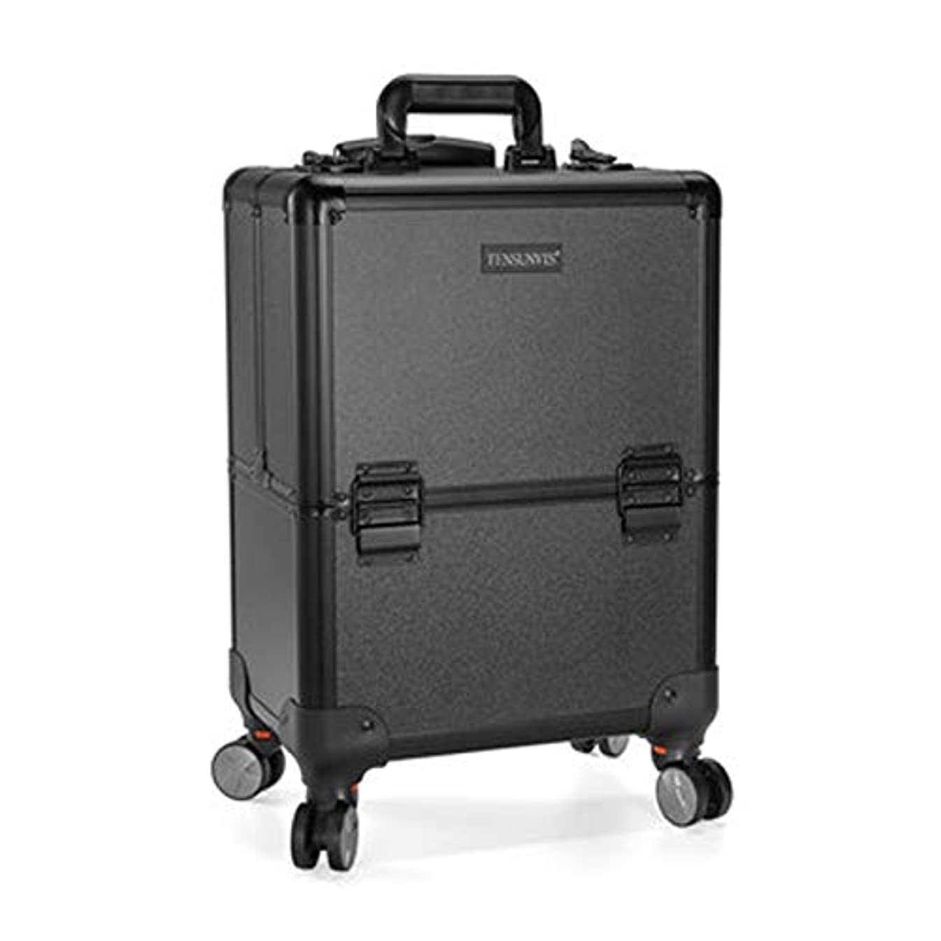 適合するチラチラする引き渡すプロ専用 美容師 クローゼット スーツケース メイクボックス キャリーバッグ ヘアメイク プロ 大容量 軽量 高品質 多機能 I-TT-317T-B