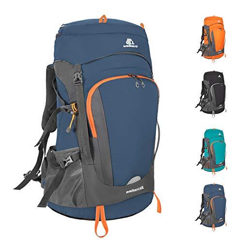 SKYSPER Wanderrucksack Reiserucksack Fahrradrucksack Multifunktionale Rucksack Packable Tagesrucksack, Faltbare Camping Rucksäcke Trekkingrucksäcke Leicht Outdoor Sportrucksack Tasche Blau 50L