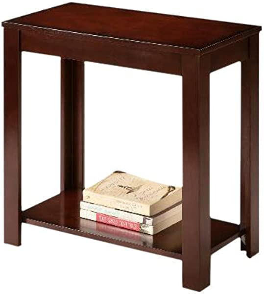 Espresso Cappuccino End Bedside Table Accent Piece