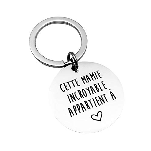 Malinmay Cute Keychain Cheap, Stainless Steel Keychain Polished Round Dog Tag Engraved 'Work will suck without you'