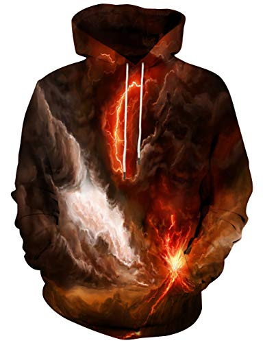 Hgvoetty Unisex 3D Graphic Hoodies for Men Women Realistic Print Cool Sweatshirts Jackets XL