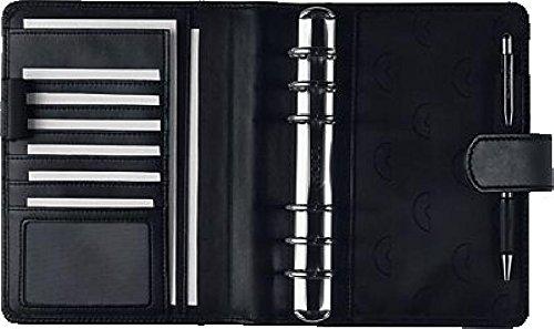 Chronoplan Zeitplansytem Midi Compact/50174, Maße 15x19cm, Farbe sw Echt Leder