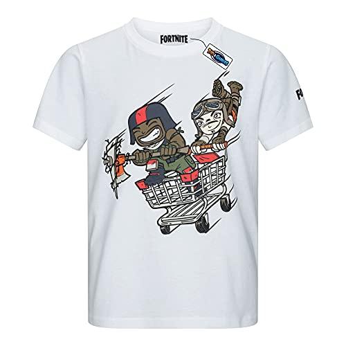Fortnite - Camiseta para niño Blanco 176 cm