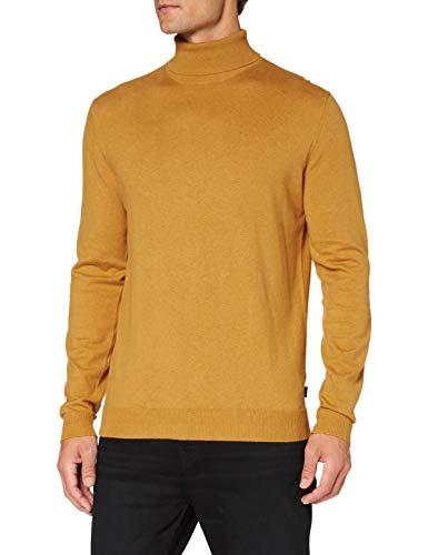 Esprit Herren 090EE2I313 Pullover, 704/AMBER Yellow 5, XL