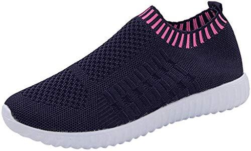 YWLINK Mode Mesh Damen Sneakers Outdoor Mesh Freizeit Sportschuhe Klassisch Atmungsaktive Laufschuhe (B Dunkelblau,42 EU)