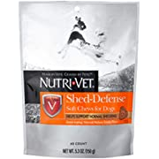 Nutri-Vet Shed Defense for Dogs Formulated with Omega-3 & 6 Fatty Acids 5.3 Ounces