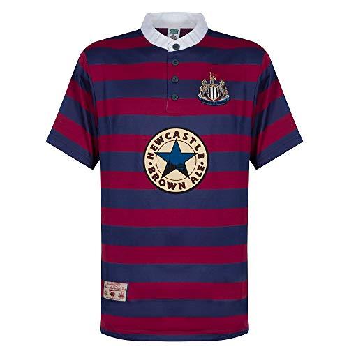 Newcastle United 1996 Away Short Sleeve Shirt - Blue, X-Large