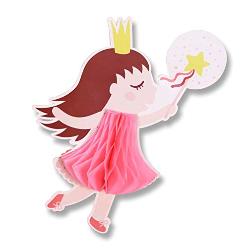 JXS-Wedding Bola de Nido de Abeja de Papel de cumpleaños, Fiesta de Bodas de Linterna de Papel, decoración Colgante, Princesa Rosa