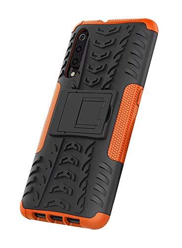 Dedux Cover Xiaomi Mi 9 [Tough Armor Series] Robusto Pannello Posteriore PC AntiGraffio +Antiurto TPU Protettivo Interno Custodia.Arancia