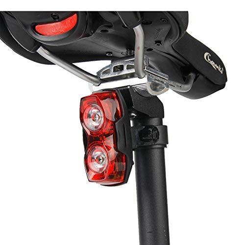 LED fiets achterlicht, waterdichte fietslicht, mountainbiken, vervangbare batterij, sterk licht veiligheidswaarschuwing licht, fietslicht Huangwei7210