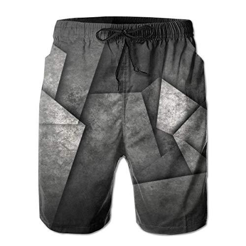 Herren Badehose Heavy Metal Schnelltrocknende Kordelzug Surfing Beach Shorts mit Taschen, Größe M.