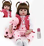 antboat Reborn Baby Dolls Girls 24 Inch 60cm Soft Silicone Vinyl Real Life Realistic Reborn Toddlers Dolls Newborn Toys Magnetic Mouth Xams Gifts reborn babies (1)