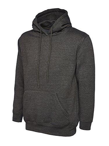Uneek clothing - Sweat-Shirt - - Uni - À Capuche - Manches Longues Homme - Noir - Noir - Large