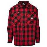 Southpole Check Flannel Shirt Camisa, Rojo, M para Hombre