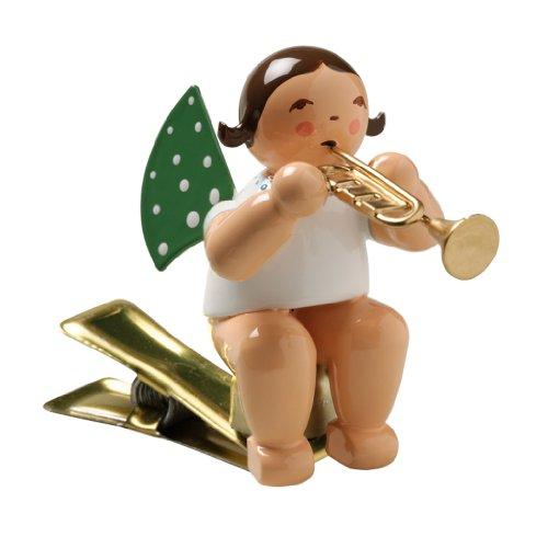 Wendt & Kühn Engel mit Trompete auf Klemme Größe 5