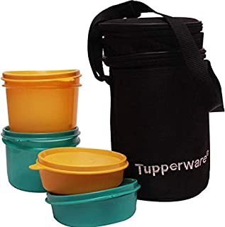 TP-990-T186 Tupperware Executive Lunch (Including Bag) With Small Bowls and Large Bowls allows you to Pack a Complete Lunch