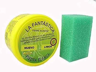 LA FANTASTICA PIEDRA BLANCA (ARCILLA CON REGALO DE ESPONJA) BOTE 600 GRAMOS
