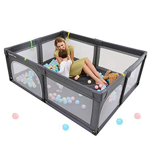 Baby Playpen, Playpens for Babies, Extra Large Playyard for Toddler, Reliable Kids Activity Center,...