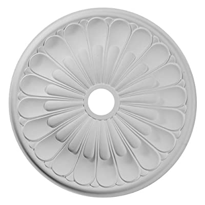 """Ekena Millwork CM26ELACS 26 3/4"""" OD x 3 ID x 1 3/8"""" P Elsinore Ceiling Medallion (fits Canopies up to 3 5/8""""), Hand-Painted, Antique Copper"""