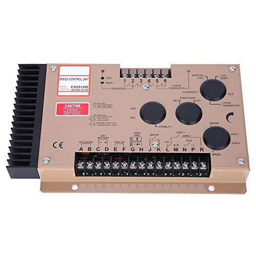 Oumefar Placa de Control de Velocidad electrónica de 12 V / 24 V CC ESD5330E, Juego de diésel práctico, Controlador de Velocidad del Motor, Resistente para el Ajuste del Motor Industrial