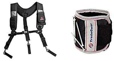 TradeGear Electrician's Belt & Bag Combo - Heavy Duty Electricians Tool Belt Designed for Maximum Comfort & Durability - Ideal for All Electricians Tools