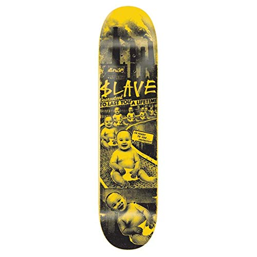 Slave Skateboard Toxic Babies Yellow Black 8.25