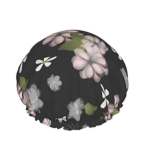Double Layers Shower Cap,Vintage Tiles For Decorative Design.Ceramic Floor Tiles.Collection Patchwork,Reusable Waterproof Elastic Bath Caps for All Hair Lengths-style11-1pcs