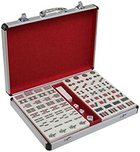 LI JING SHOP - Haushand-Art Mahjong Karte, Weißes festes Melamin-Material Mahjong, vorzügliches Aluminium verpackt, Größe  3.8  3.0  2.0CM   4.0.03.1  2.1CM  4.23.22.2CM ( Größe   4.23.22.2CM )