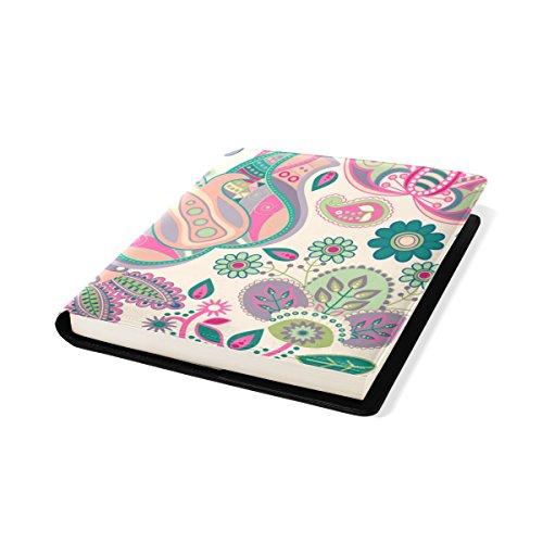 COOSUN Rose Paisley Floral Pattern Book Cover Sox Stretchable Livre, La Plupart des Fits Relié jusqu'à 9 manuels x 11. adhésif Libre, école Cuir PU Livre Protector 9 x 11 Pouces Multicolore