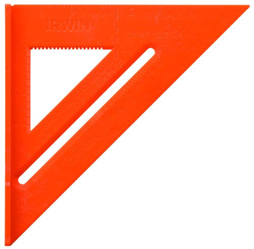 IRWIN Tools Rafter Square, Hi-Vis, 8-Inch (1794466)