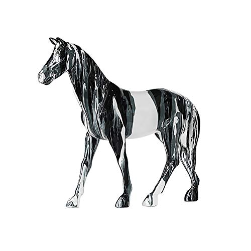 PDXGZ Sculpture Statue Figurines, Flowing Colorful Horse Ornaments, Resin Process, Birthday Housewarming Gift, Living Room Desktop Room Home Decorations