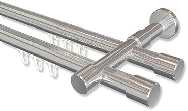 16 St/ück Interdeco Gardinenringe mit Faltenhaken Holz-Ringe in Nussbaum f/ür Gardinenstangen 20 mm /Ø