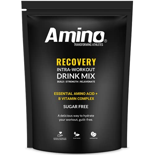 Amino Recovery - Essential Amino Acid Drink - 5000mg EAA Amino Acids & BCAA & B Vitamins - Protects Muscle Mass & Aids Recovery - Intra-Workout - Zero Sugar (Green Apple, 22 Servings)