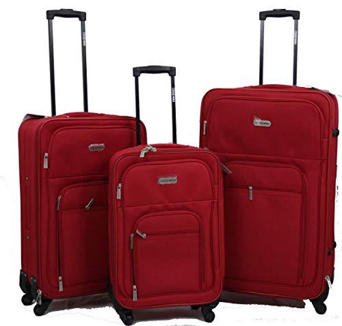 Trolley valigia coveri set 3 valigie semirigide set bagagli in tessuto super leggeri 4 ruote piroettanti
