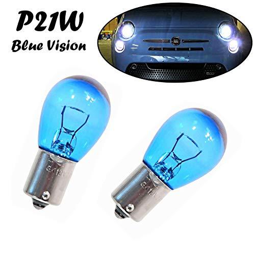 2x Jurmann P21W 12V BA15s Blue Vision hell Weiß Tagfahrlicht Rücklicht Bremslicht Hecklicht Ersatz Halogen Auto Lampe E-geprüft