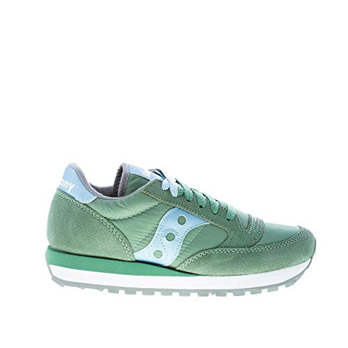 Saucony Donna Jazz O  Sneakers in Camoscio GREENBLUE 6,5