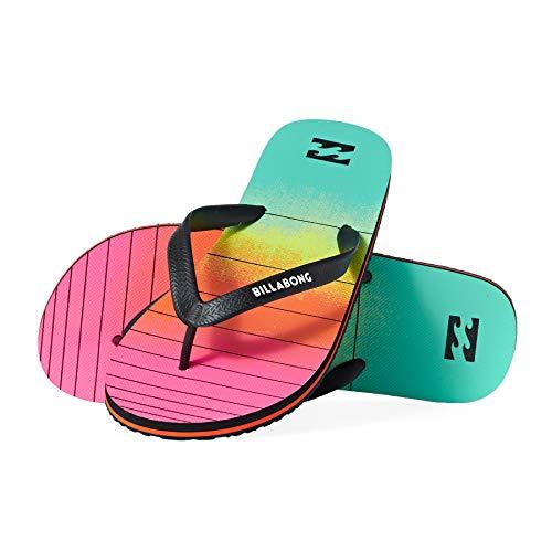 Billabong Tides 73 Stripe, Chanclas Hombre, Multicolor (Neon 5628), 43 EU