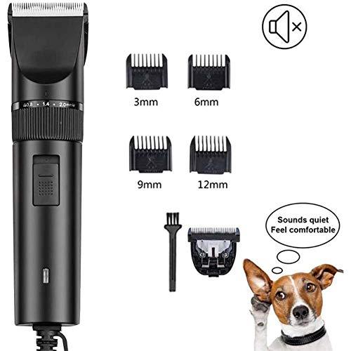 MLyzhe Sticker Hond Kat voor dik/lang/kort / krullend haar, oplaadbare draadloze dierenhaarknipper, professionele tondeuser, verzorgingsset voor alle huisdieren
