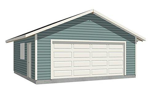 Garage Plans: 2 Car Garage Plan 528-2F - 22' x 24' - Two car - (rafters)