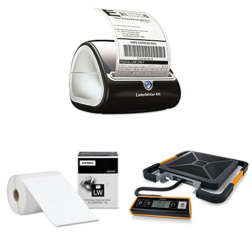DYMO LabelWriter 4XL Thermal Label Printer (1755120) with LW Extra-Large Shipping Labels for...