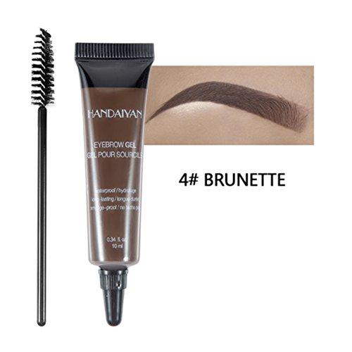 Sourcils Gel, Teinte instantanée imperméable de couleur de colorant de gel professionnel de sourcil avec la brosse pour le maquillage(4#)