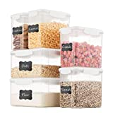 Airtight Food Storage Containers With Lids [6 Piece] BPA Free & 100% Leak Proof Food Containers Set - Dry Food...