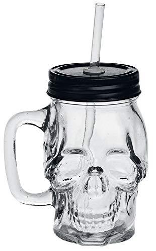 Alchemy Gothic Skull Glass Unisex Vaso Cerveza Standard, vidrio, [Effekte/Besonderheiten] + 0,33 l