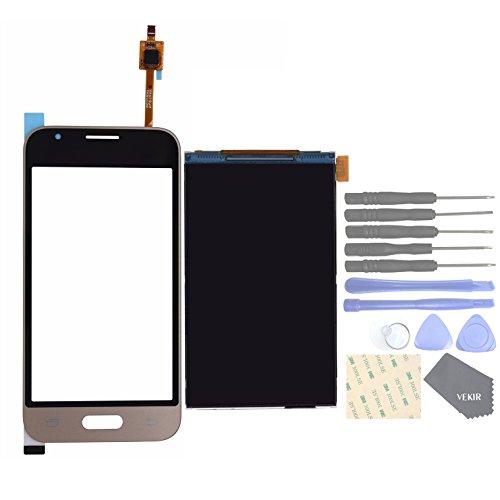 VEKIR Parti di Ricambio per telefoni cellulari Samsung Galaxy J1 NXT J105 J1 Mini 2016 Touch Schermo Glass Panel+ Mostra Schermo LCD[Not Yet Combined](Golden)